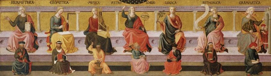 """Artes liberales"", Pesellino. Birmingham Museum of Art (Alabama)"