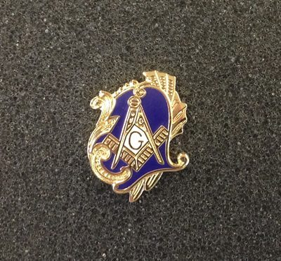 Antique Style Masonic Lapel Pin
