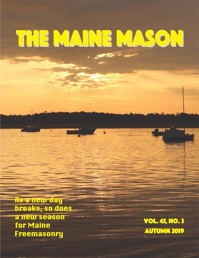 Autumn 2019 Maine Mason issue